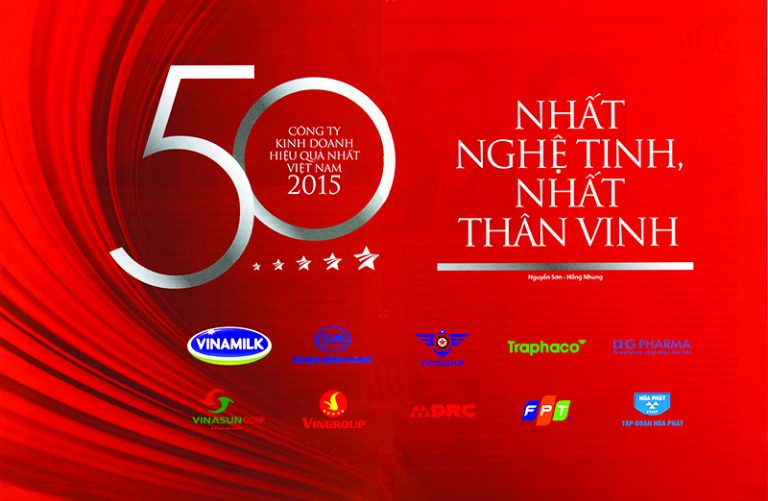 """DRC: 5 năm liên tiếp nằm trong """"Top 50 công ty kinh doanh hiệu quả nhất VN năm 2015"""" (14/7/2016"""