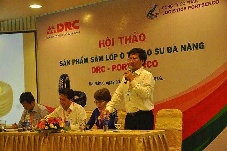 """DRC và Công ty cổ phần Logistic PORTSERCO đồng tổ chức """"Hội thảo chuyền đề về lốp ô tô tải DRC"""" (11/11/2016)"""